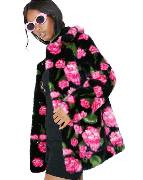 Rose Floral Tammy Coat