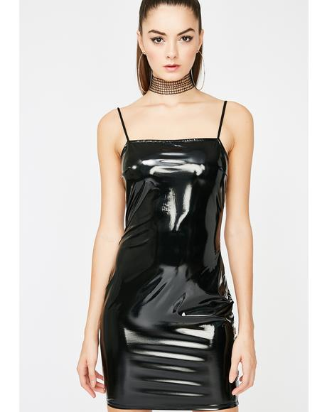 Up All Nite Vinyl Mini Dress