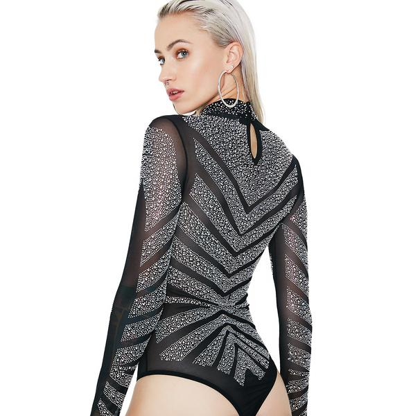 Kiki Riki Got It Made Embellished Bodysuit