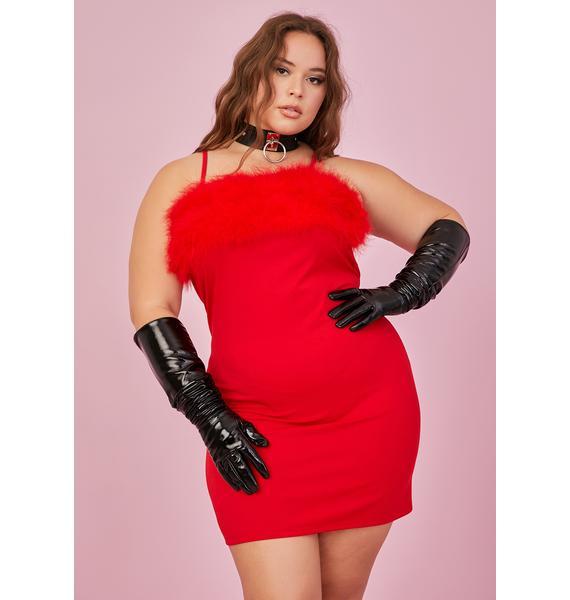 Sugar Thrillz She's Flirty N' Thriving Marabou Dress