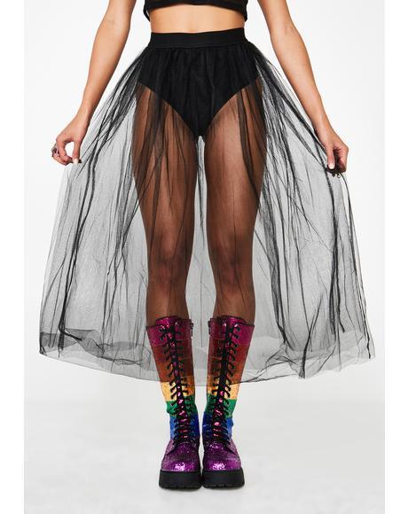 Vicious Vapor Tulle Skirt