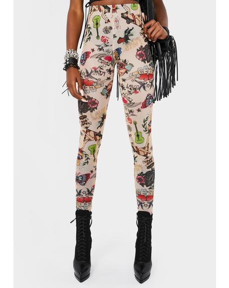 Talk Of The Town Printed Leggings