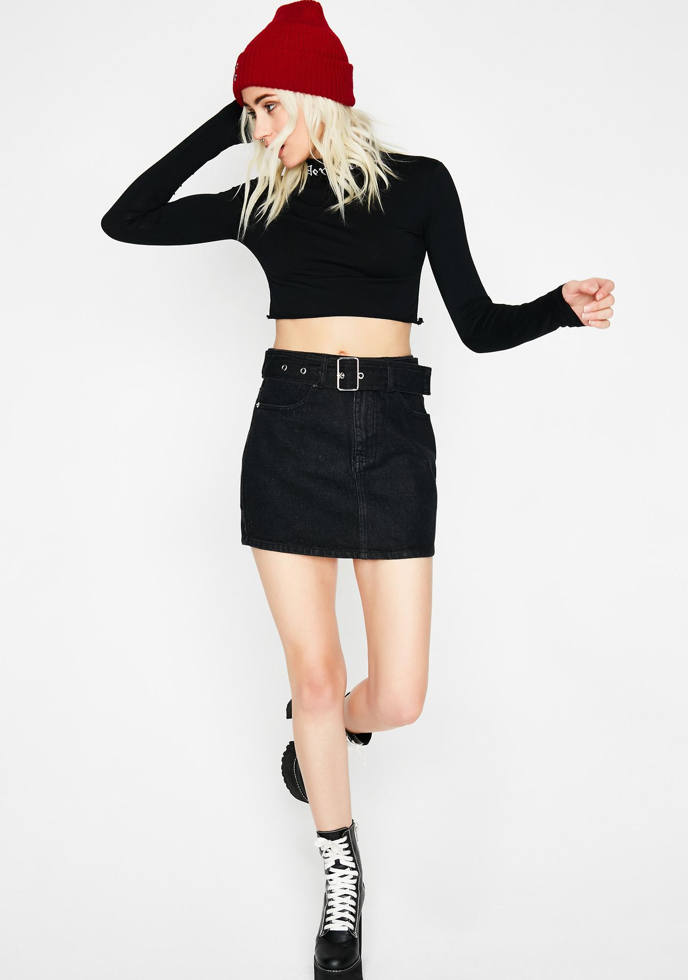Onyx A Notch Above Denim Skirt