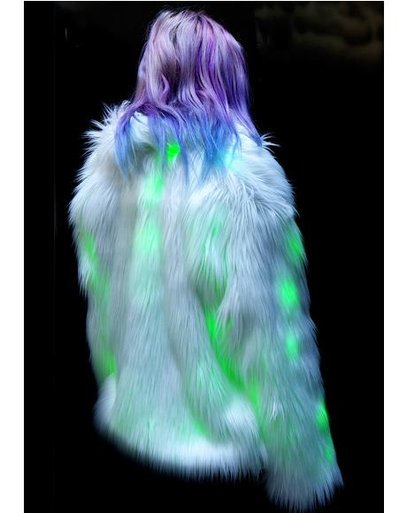 Lava Flashing Lights Midi Jacket