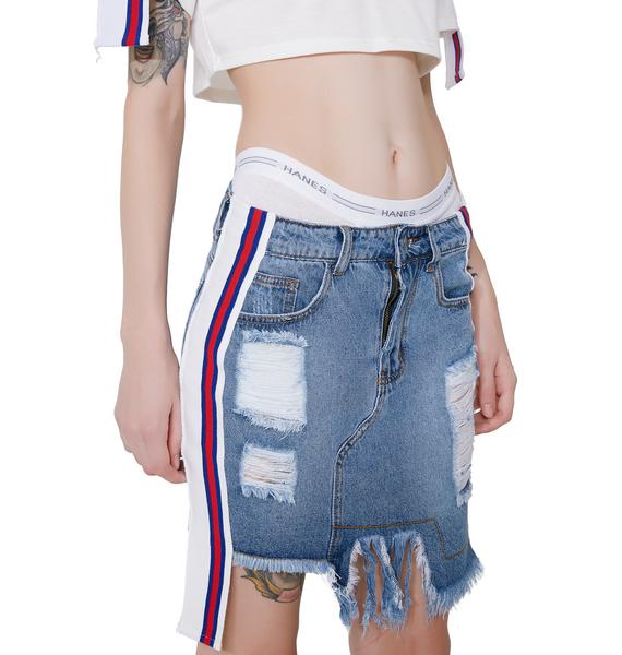 Cutting Class Denim Skirt