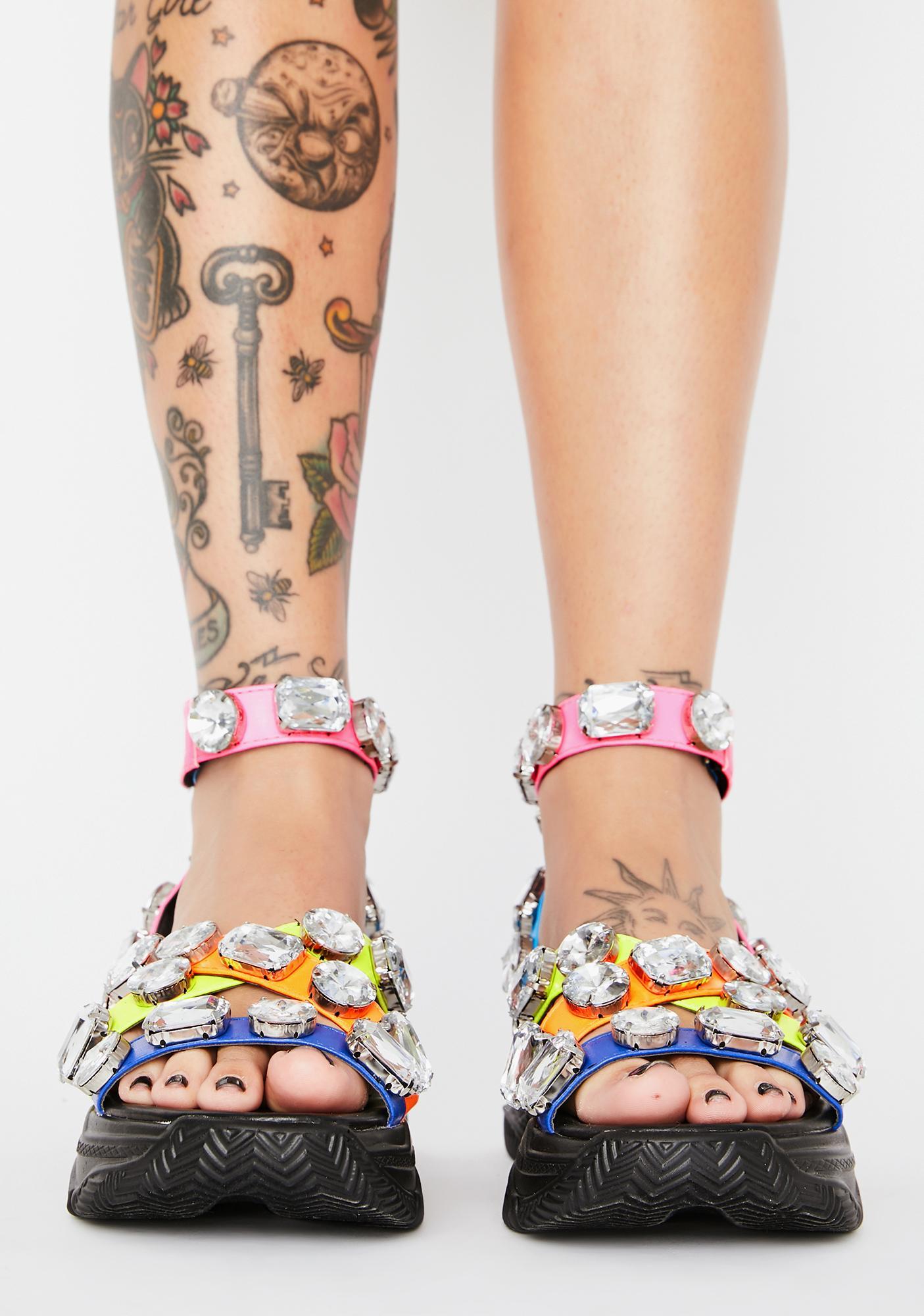 Sparklin' Strut Platform Sandals