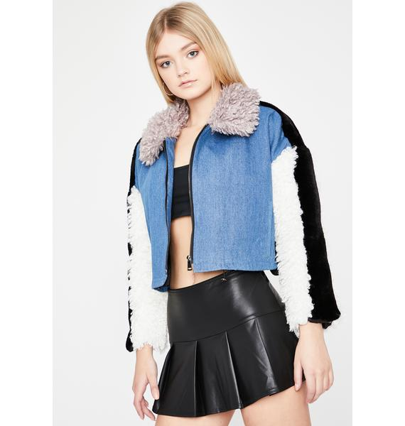 Frozen In Time Cropped Jacket