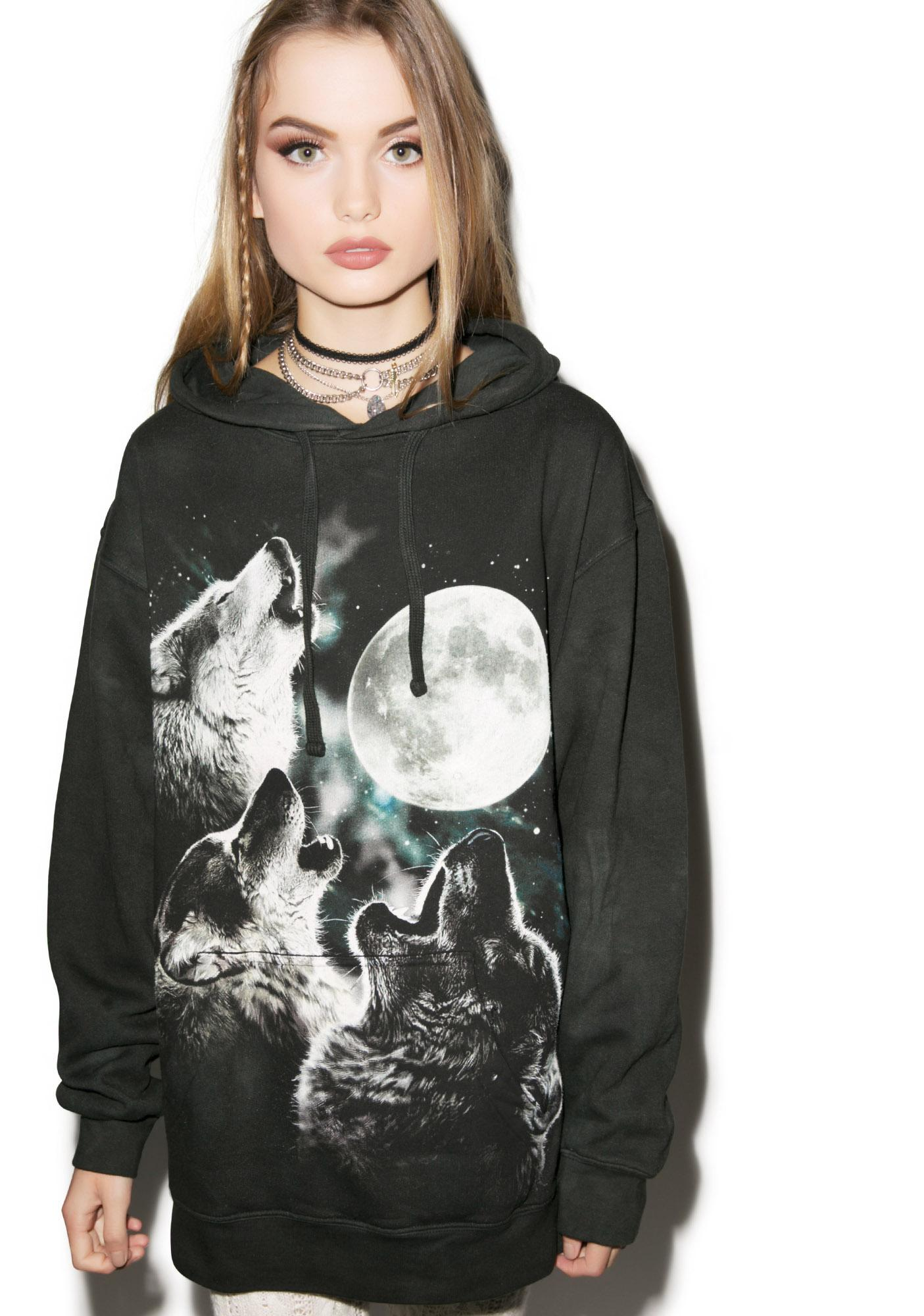 Three Wolf Moon Hoodie