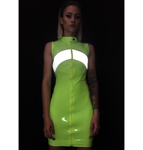 Electrik Engines Go Vinyl Dress
