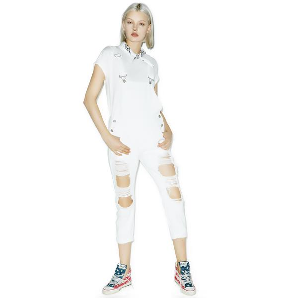 Ghostin' Distressed Overalls
