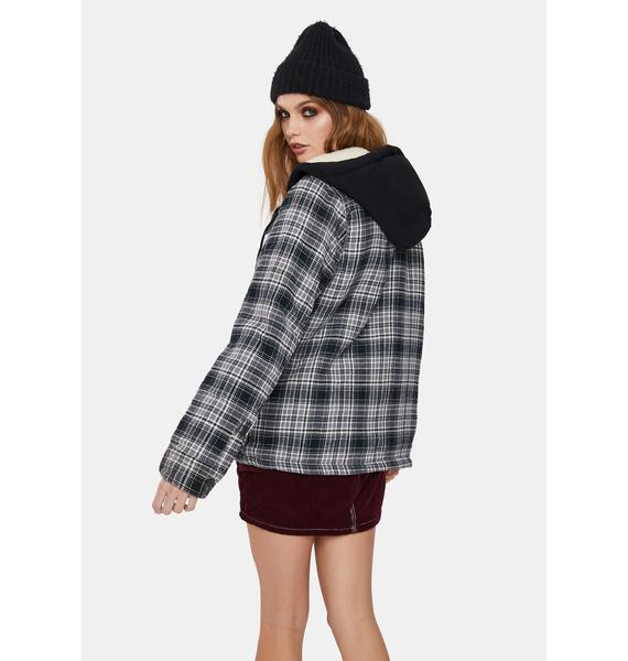 Dickies Girl Sherpa Lined Plaid Jacket