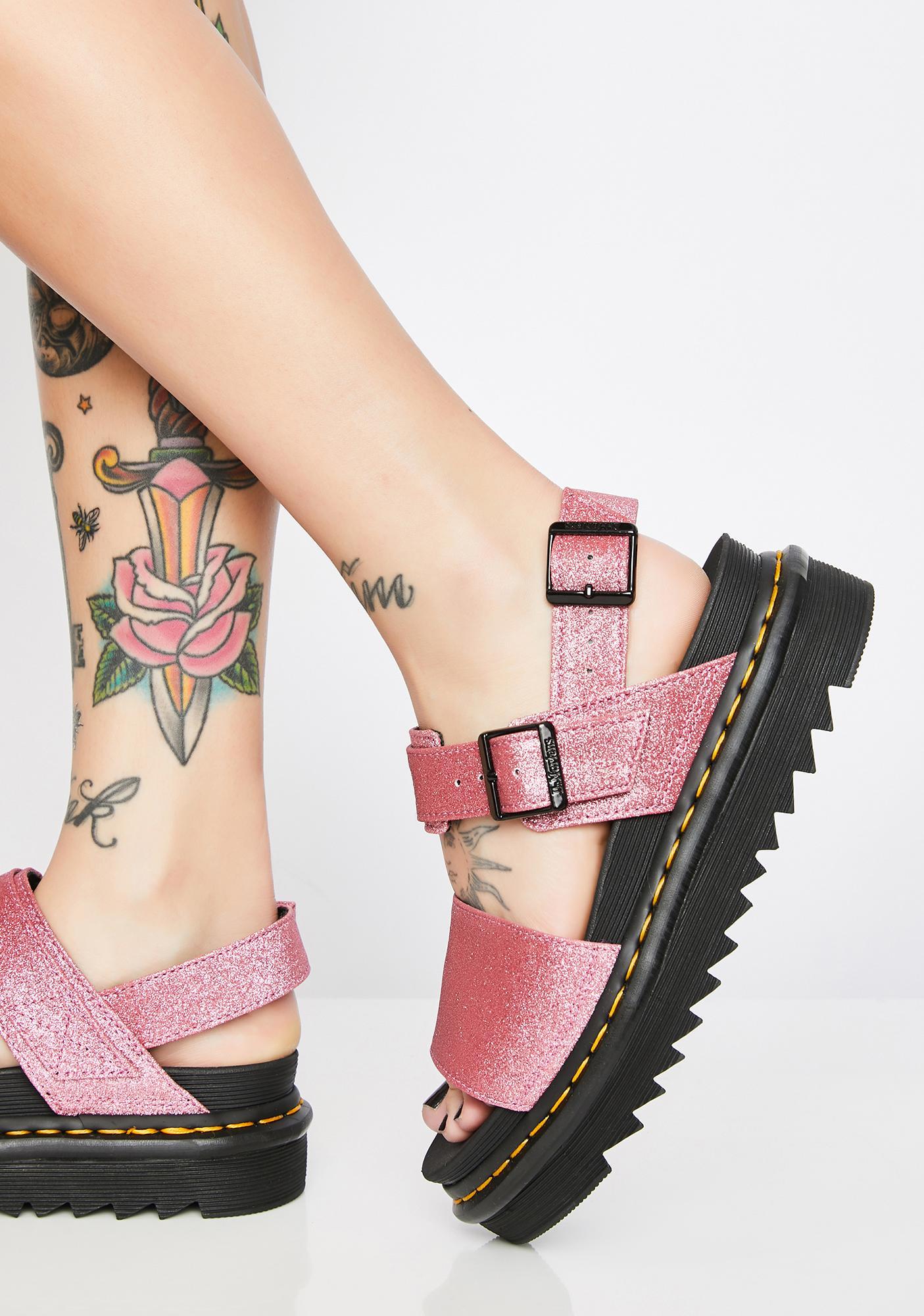 54cce685d21 Dr. Martens Voss Fine Glitter Sandals