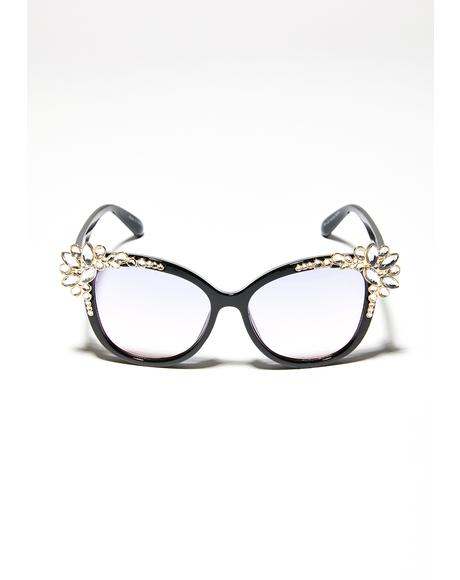 Too Damn Gorg Rhinestone Sunglasses