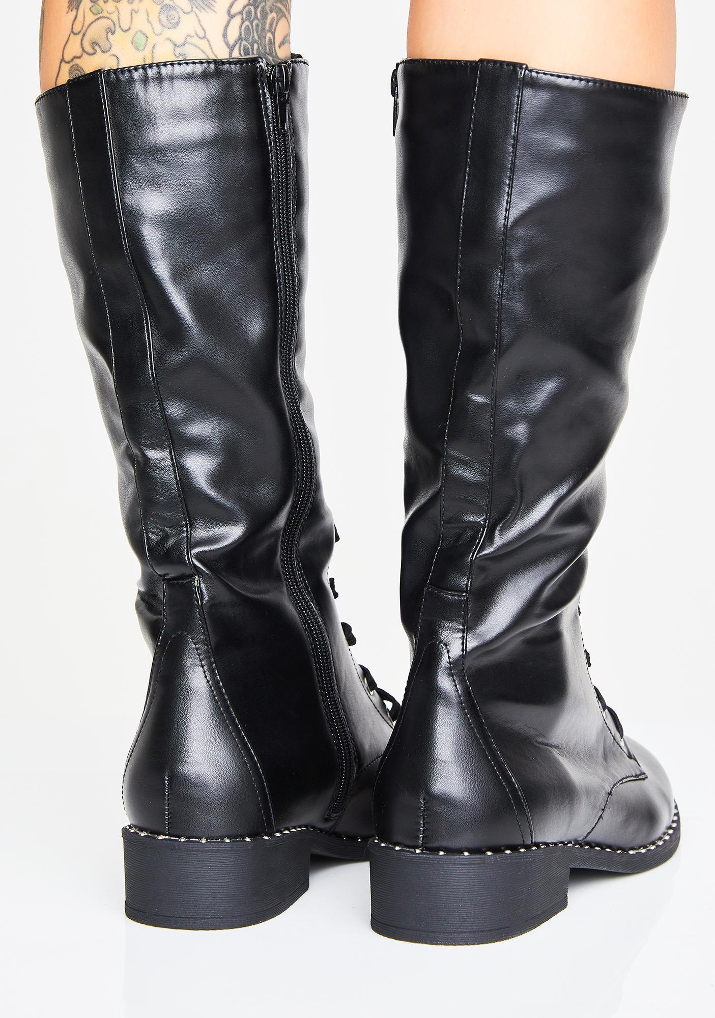 2476c34e8 Vegan High Combat Boots | Dolls Kill