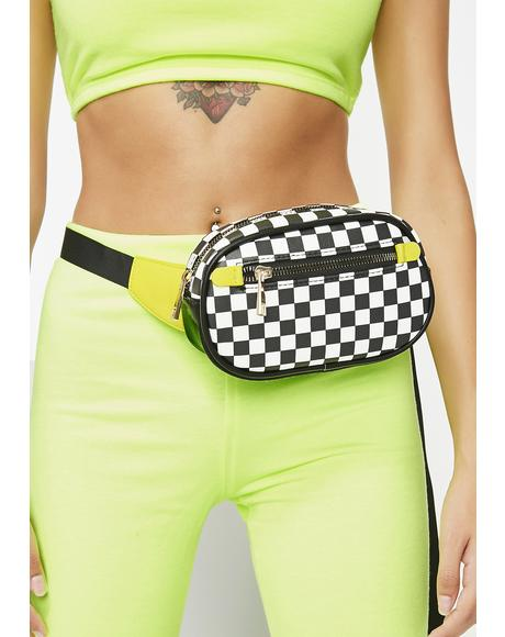 Fast Rider Checkered Fanny Pack