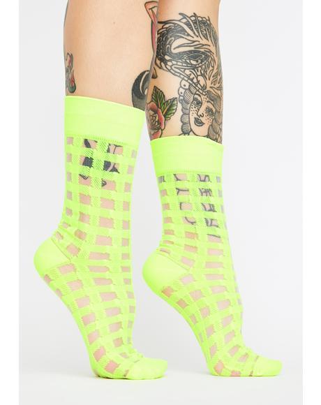 Cyber Carnival Crew Socks