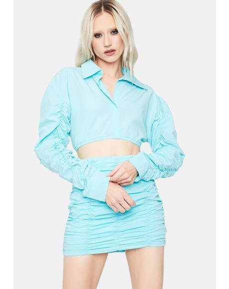 Aqua Feel Free Crop Top Skirt Set
