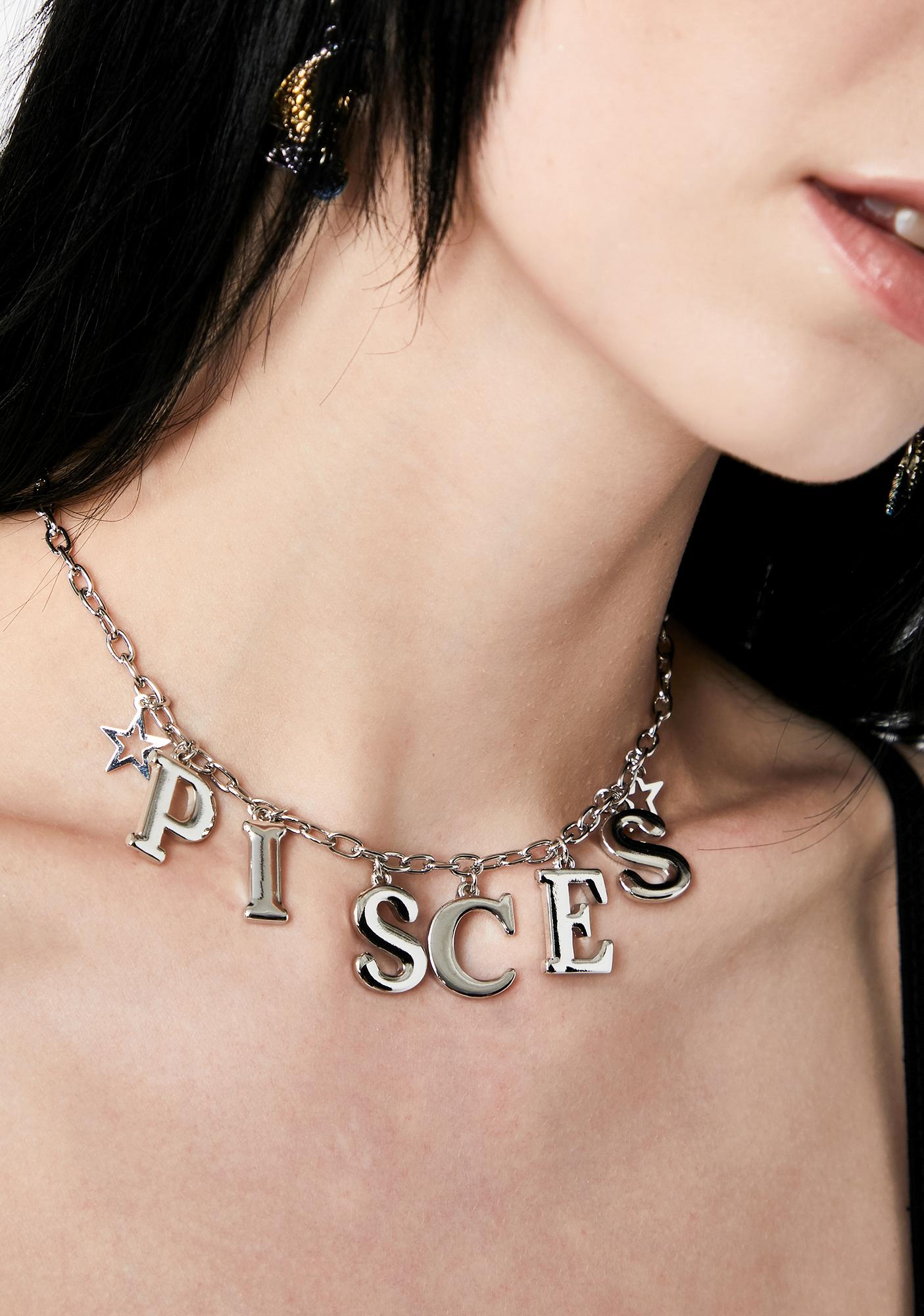Positively Pisces Chain Necklace