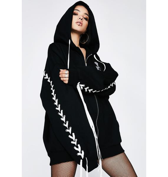 Poster Grl Zero Love Lace-Up Hoodie
