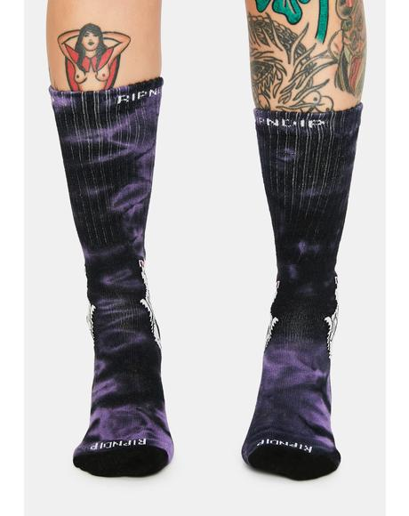 Lavender Lord Nermal High Socks