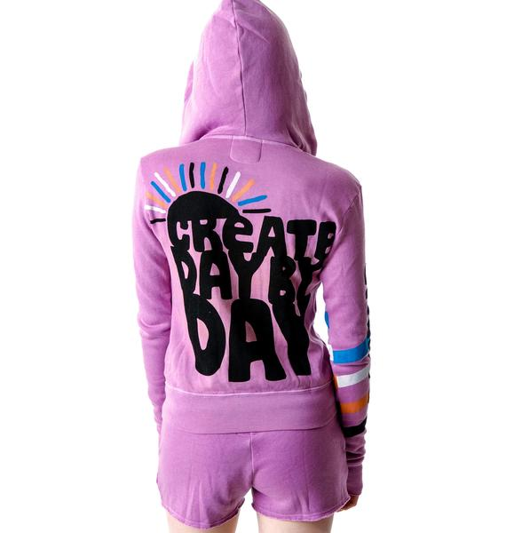 Day By Day Create Zip Up Hoodie
