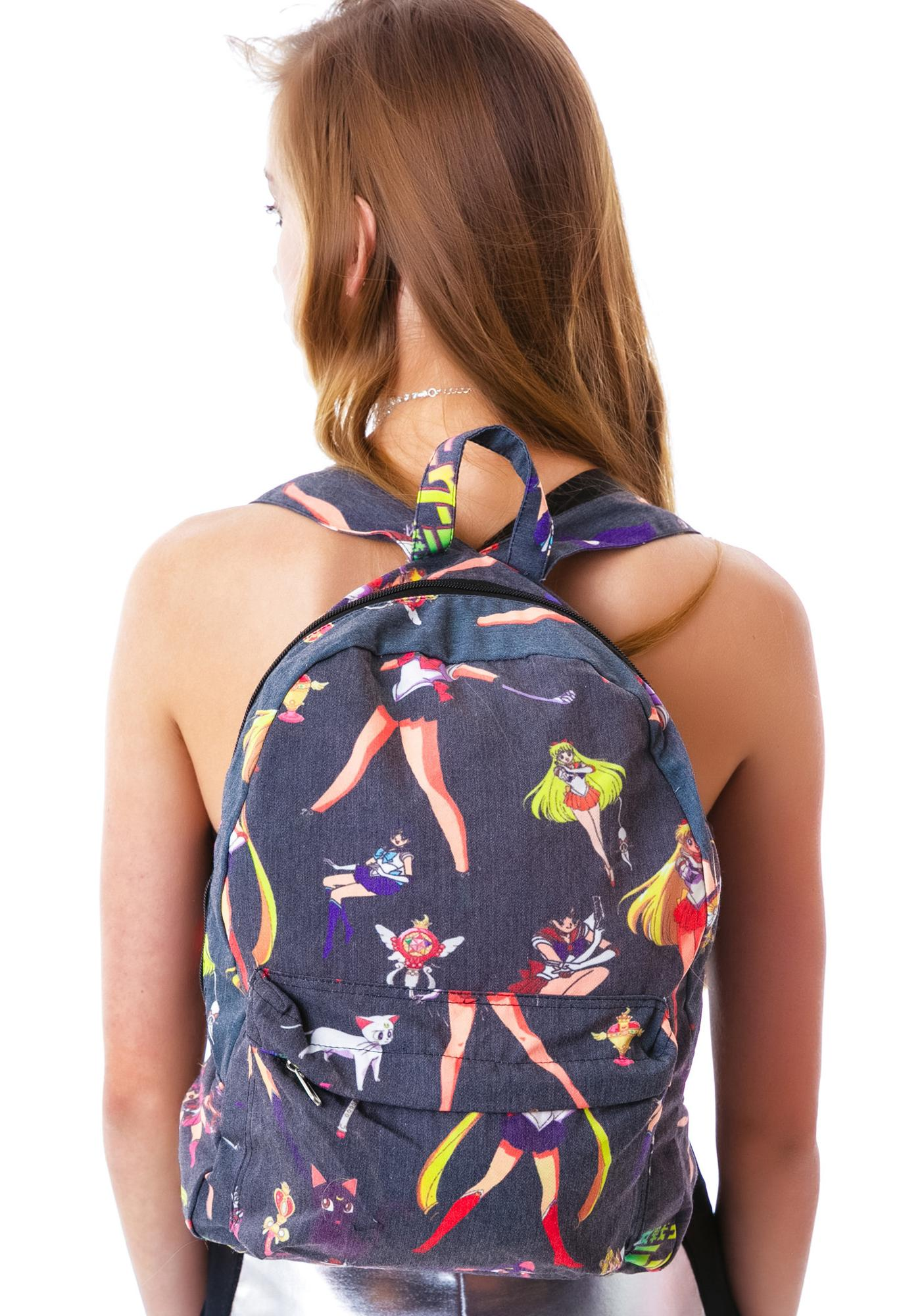 O Mighty Moon Prism Power Sailor Mewn Backpack