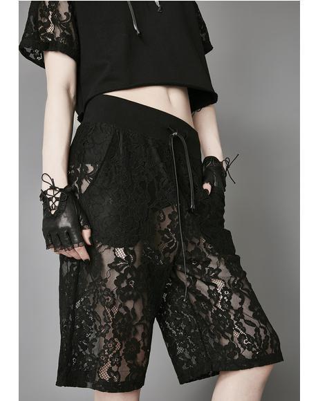 Night Falls Lace Shorts
