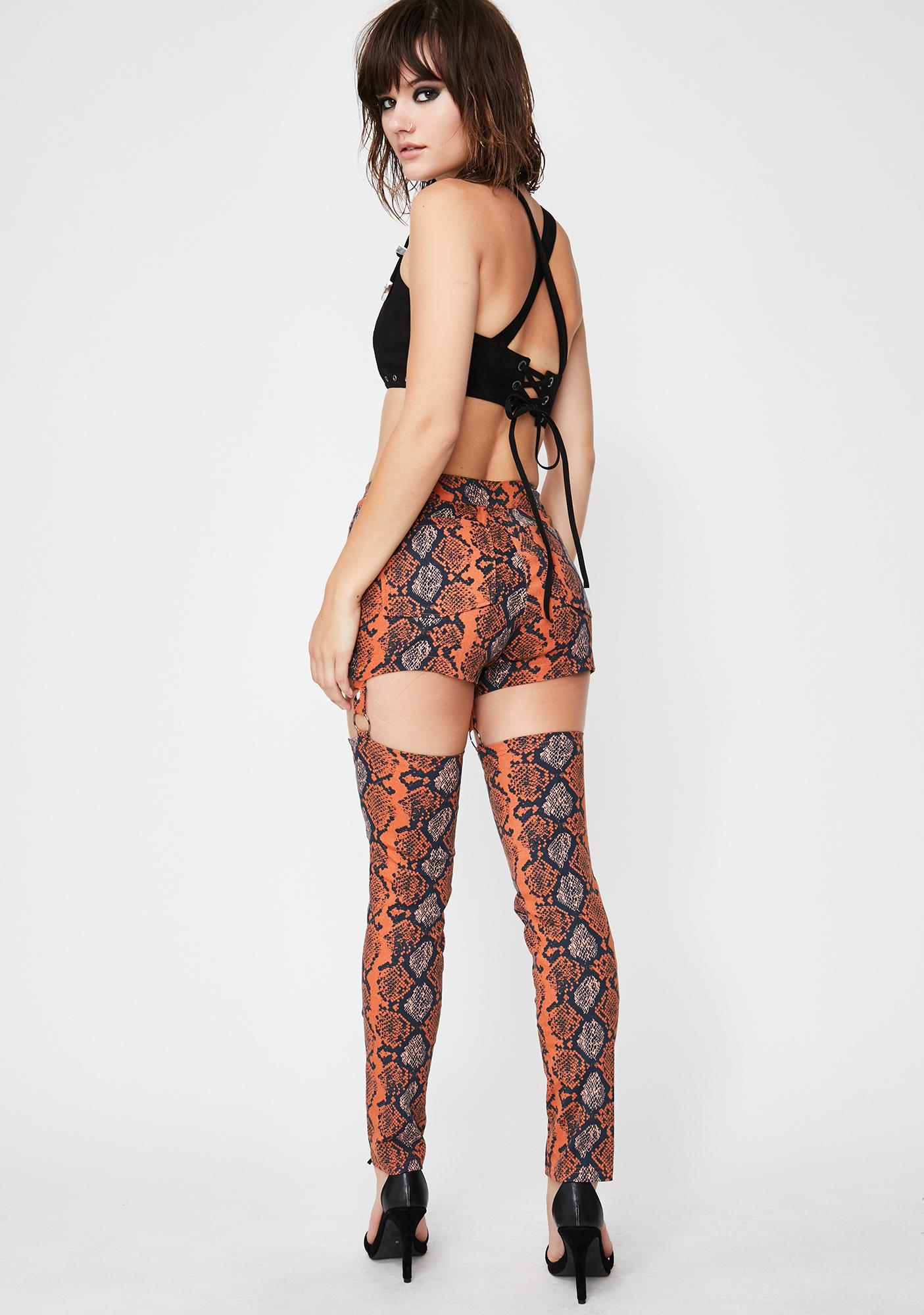Deadly Dame Snakeskin Chaps