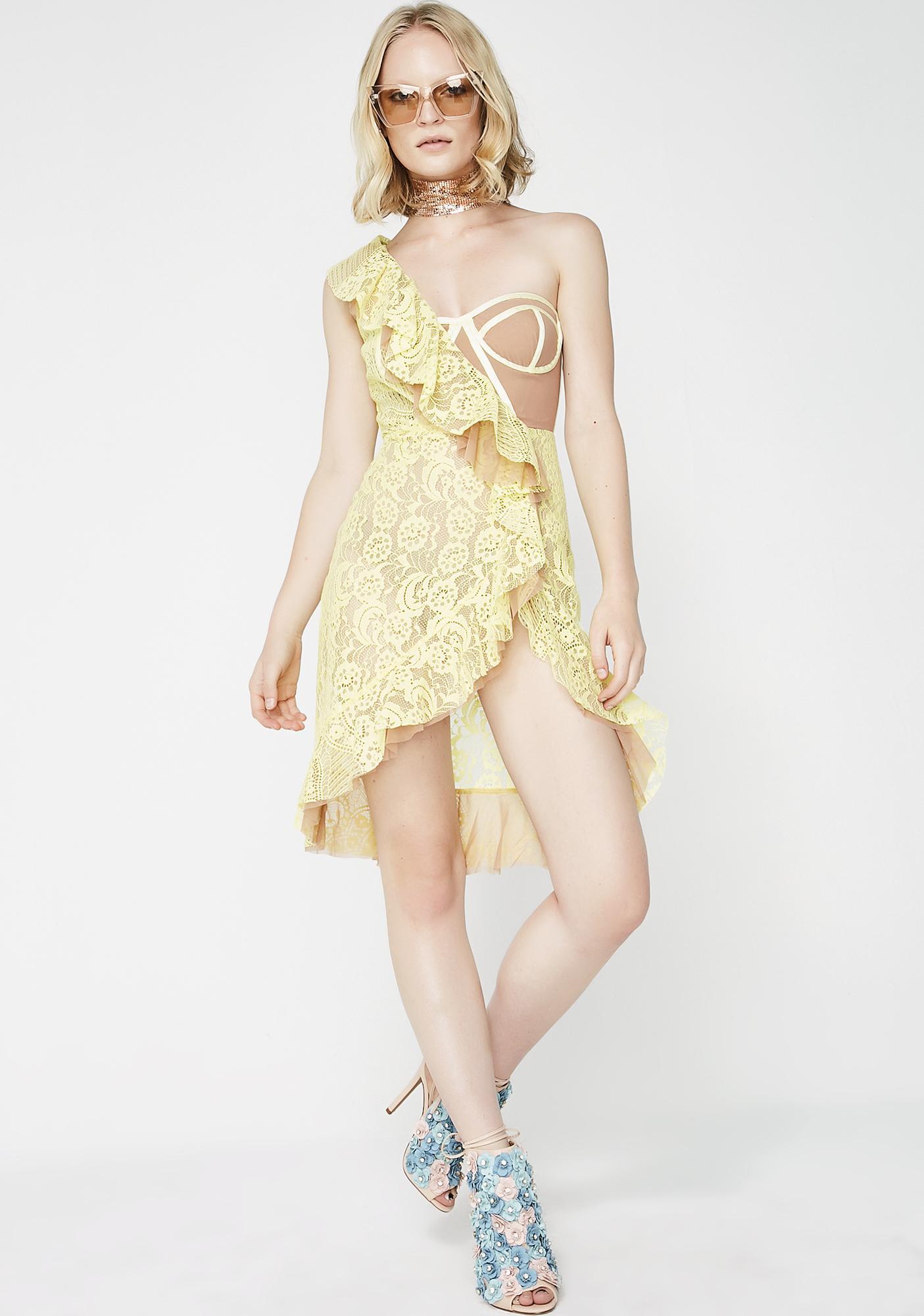 For Love & Lemons Tati Lace Midi Dress