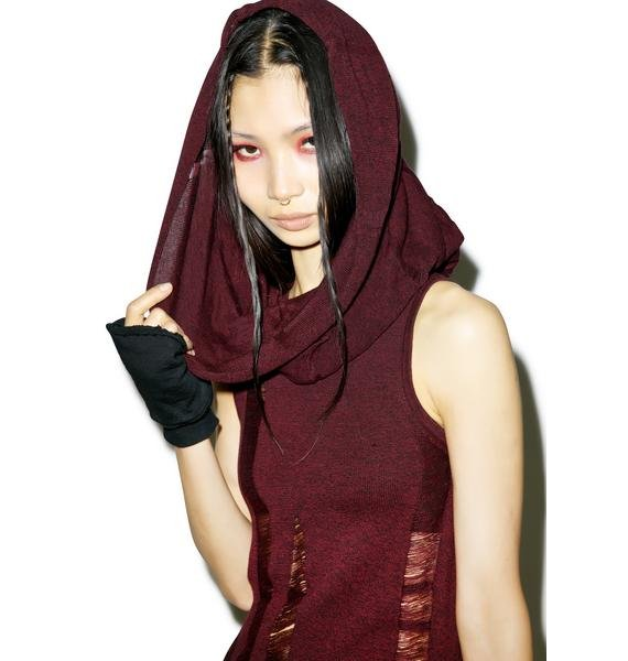 Widow Propaganda Sleeveless Hooded Dress