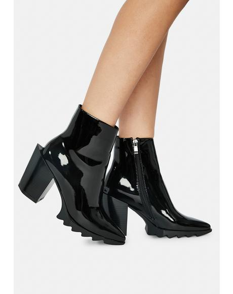 Cammer Patent Ankle Boots