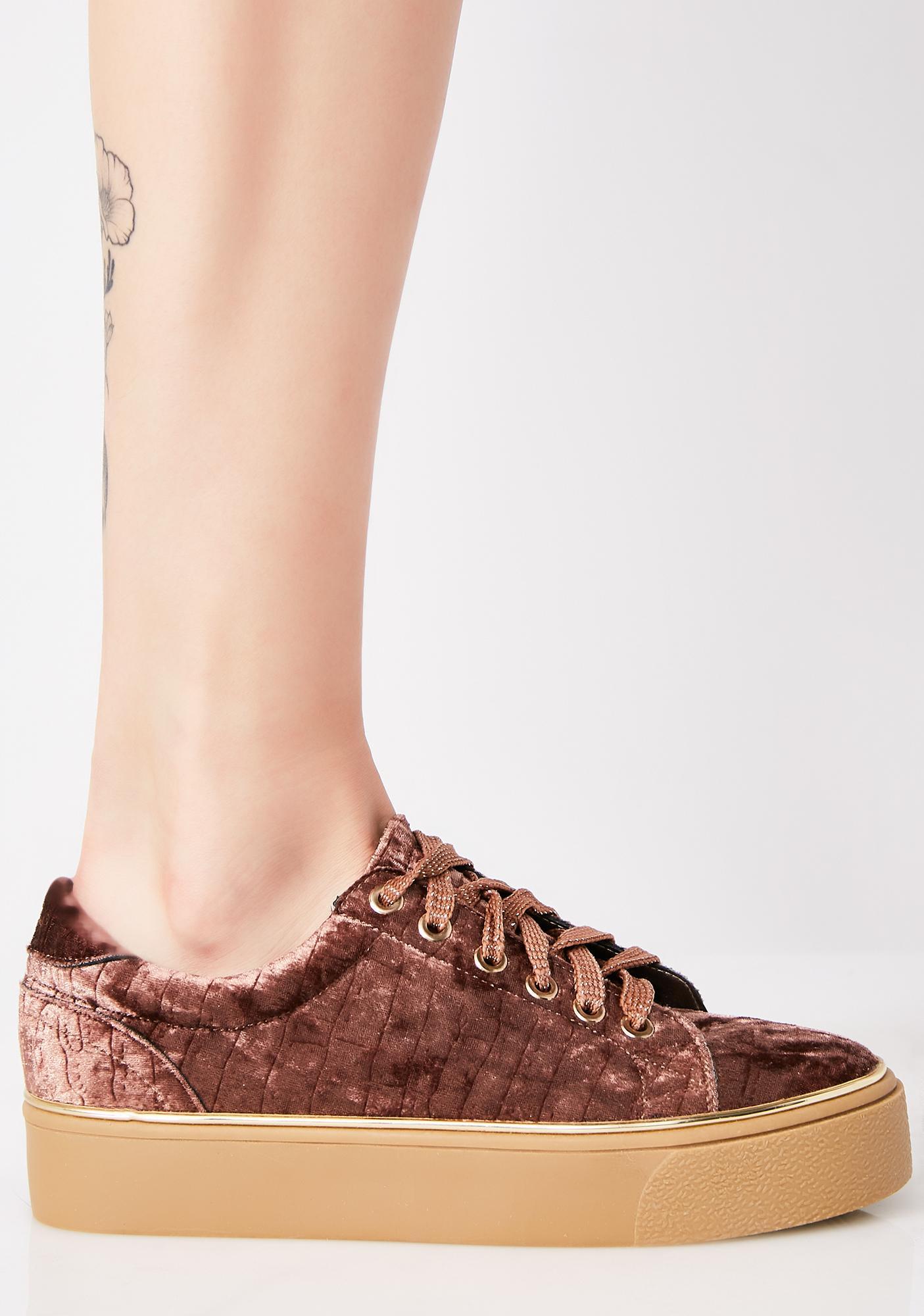 Cocoa Fuzz Buzz Platform Sneakers