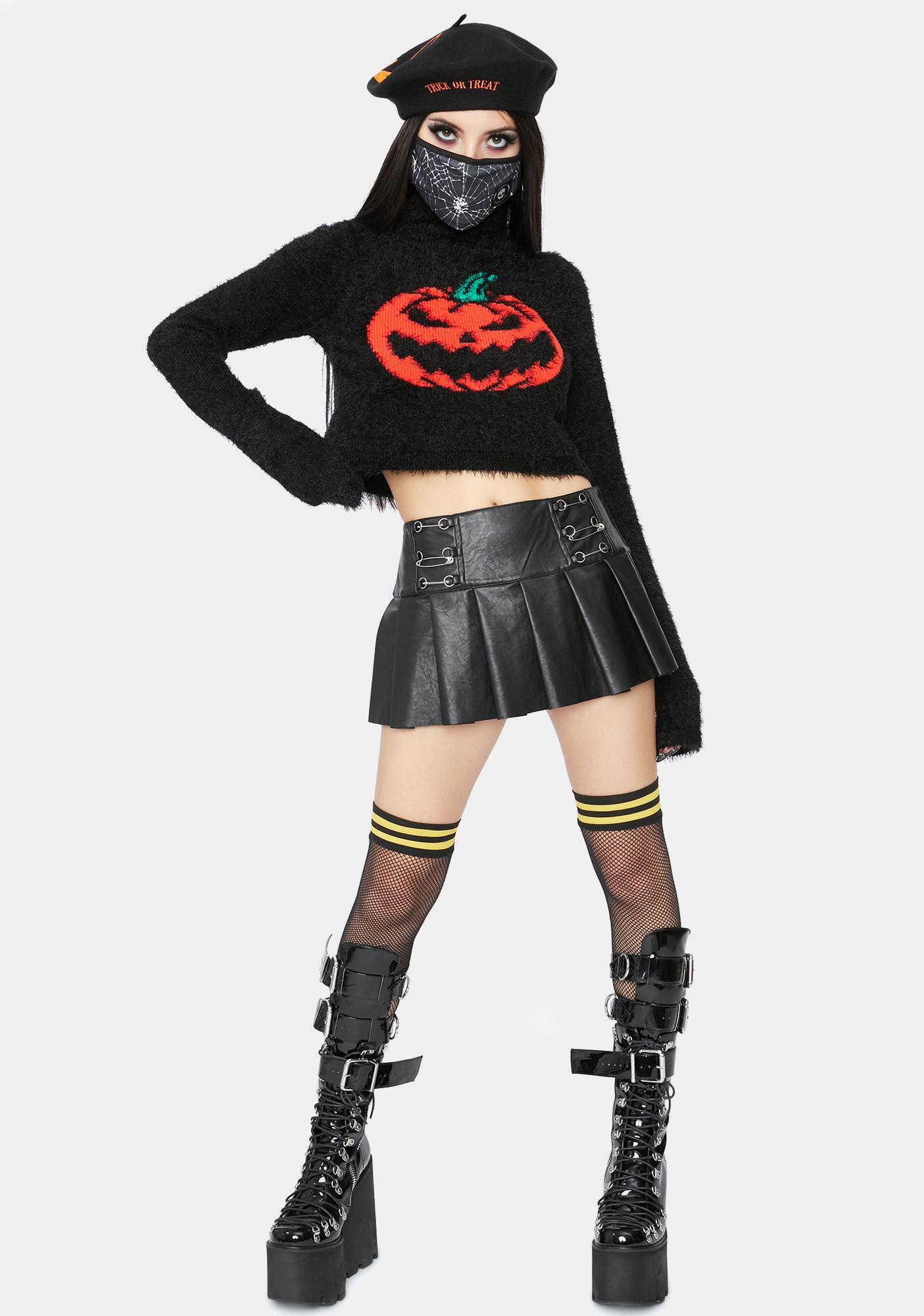Dolls Kill Cut It Out Crop Sweater