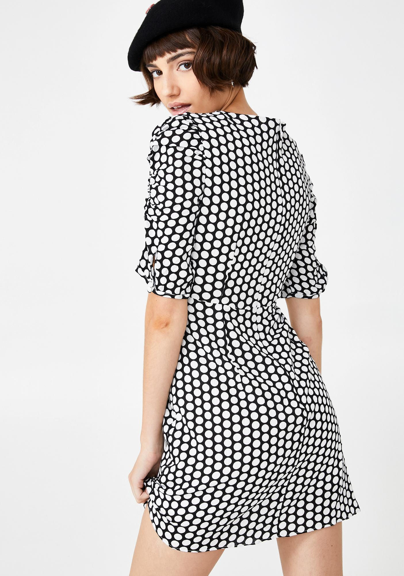 Glamorous Madame Luxe Polka Dot Dress