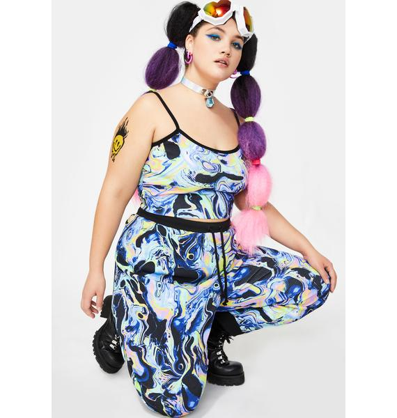 Club Exx Swirly Acid Dimension Knit Joggers