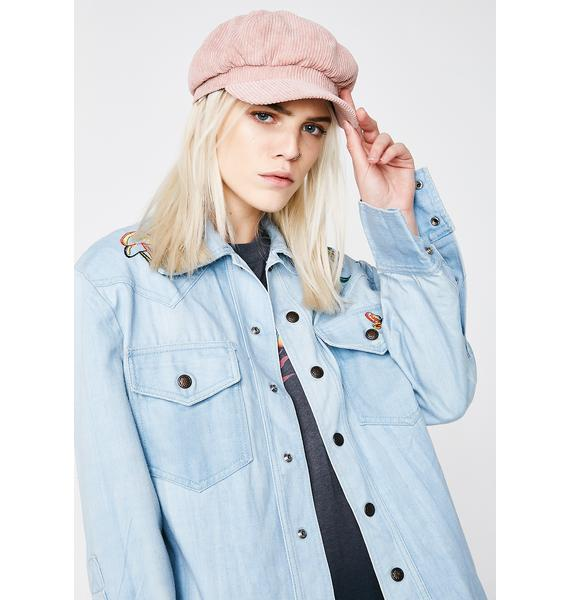 Rose Quartz Take The Wheel Biker Hat