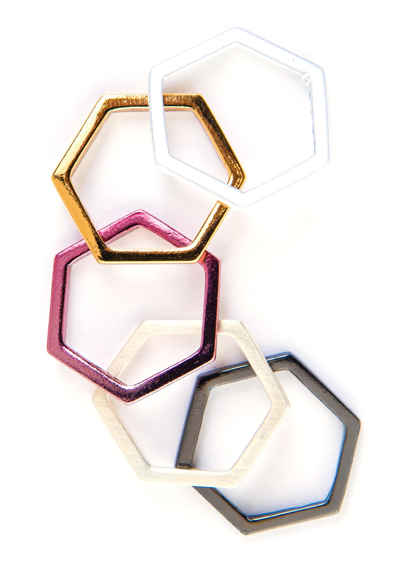 Luv AJ Hexagon Ring