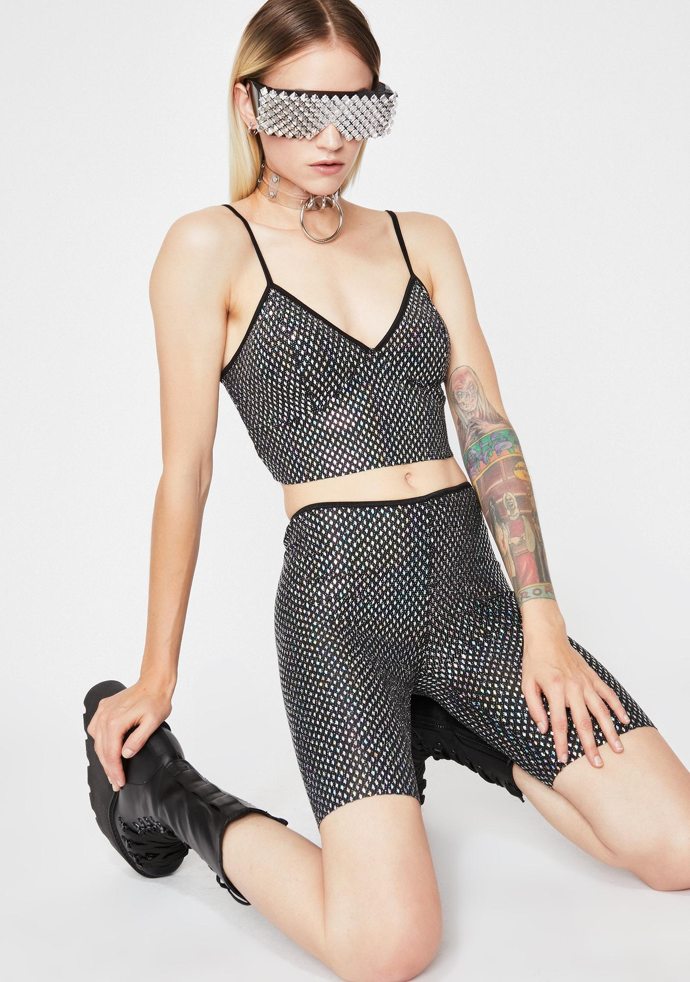 Bass Riot Holographic Top