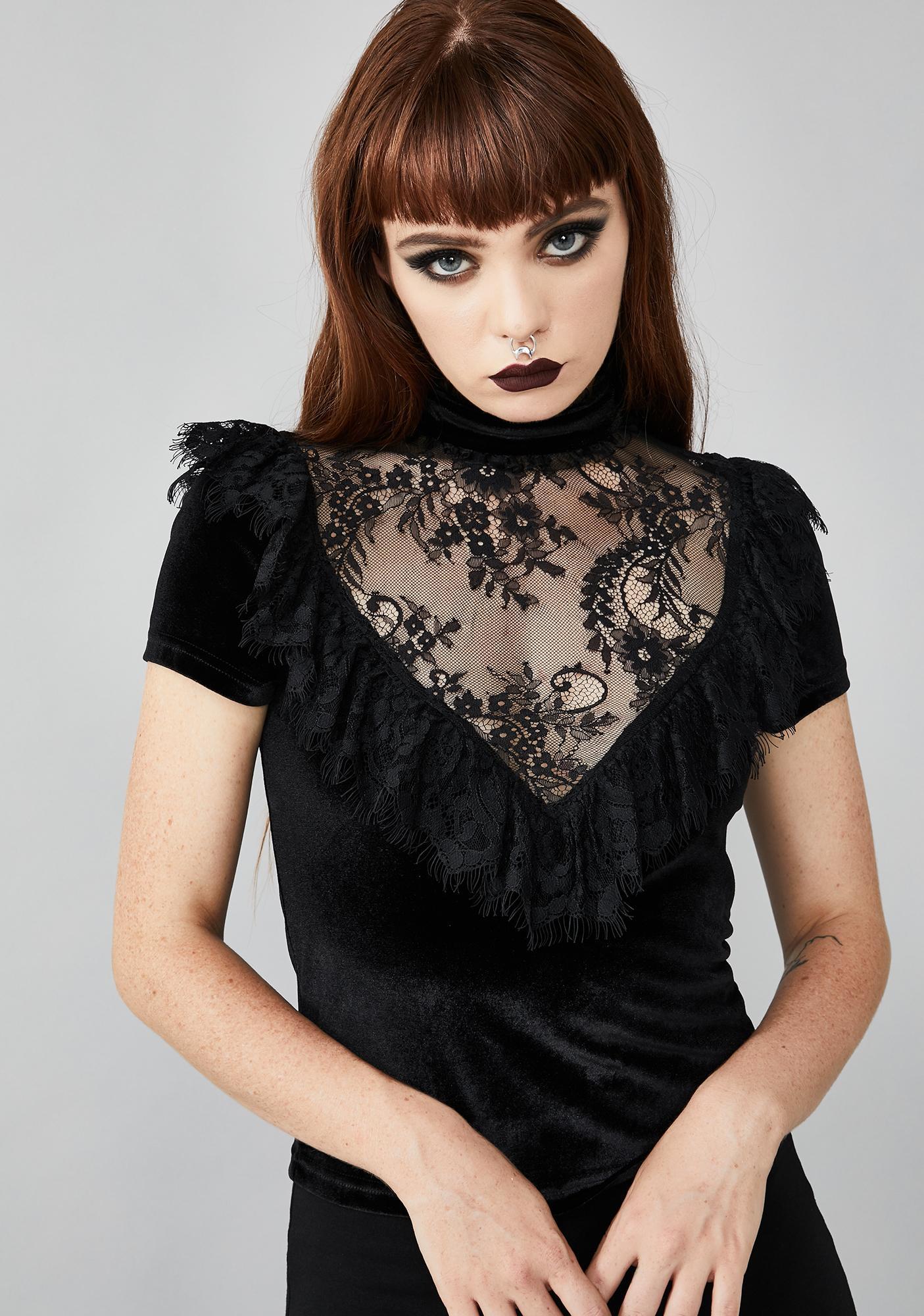 Widow Heartsikk Hedon Lace Top