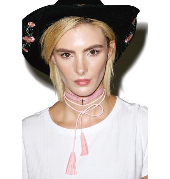 Rose Wrangler Tassel Necklace