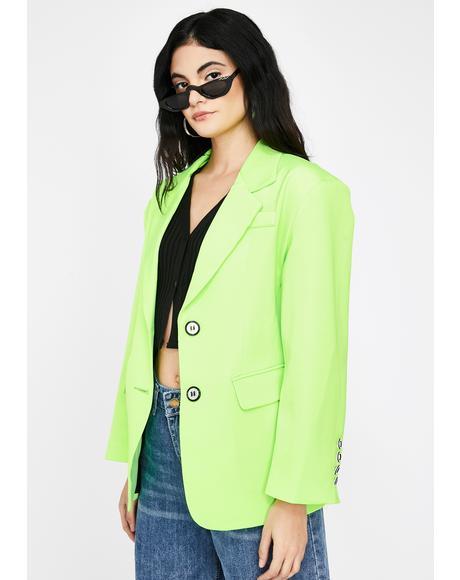 Hailey Neon Blazer