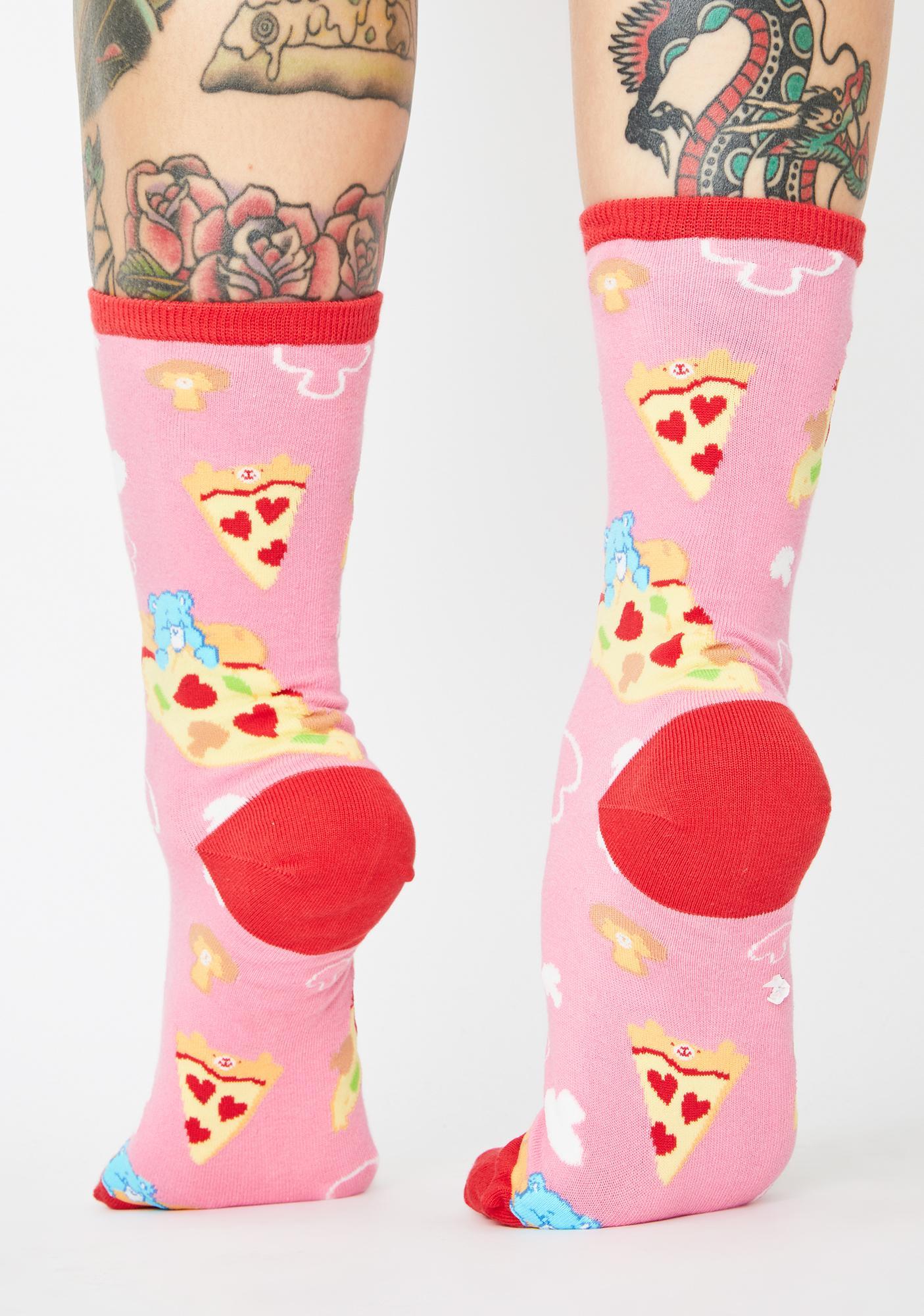 Socksmith Design Pink Pizza Dreams Crew Socks