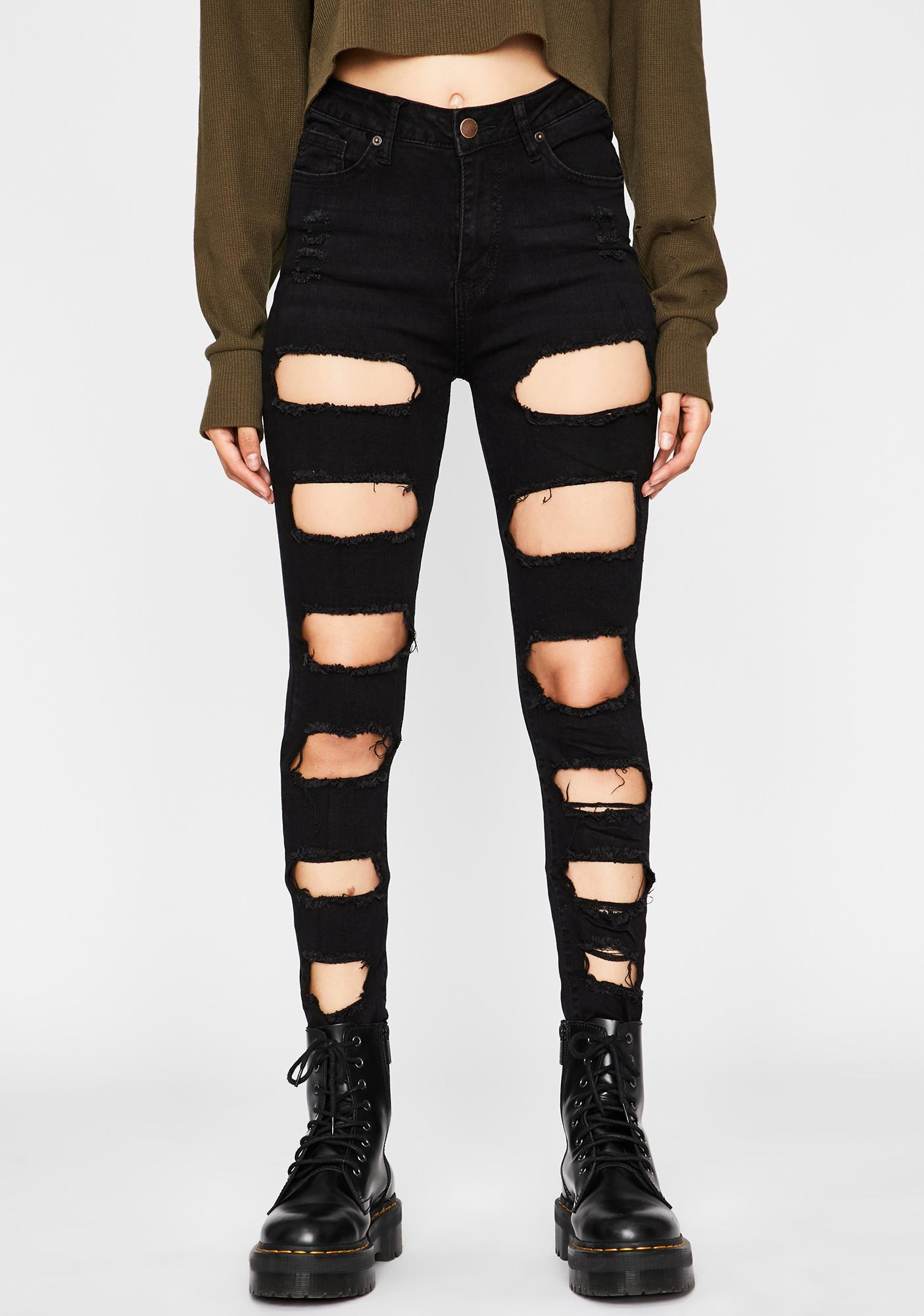 Love U To Pieces Ripped Jeans