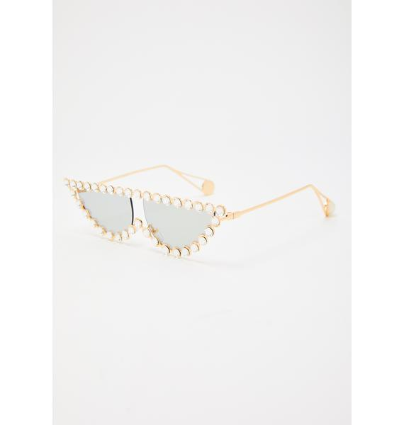 Smoke Glam Kitty Jeweled Sunglasses