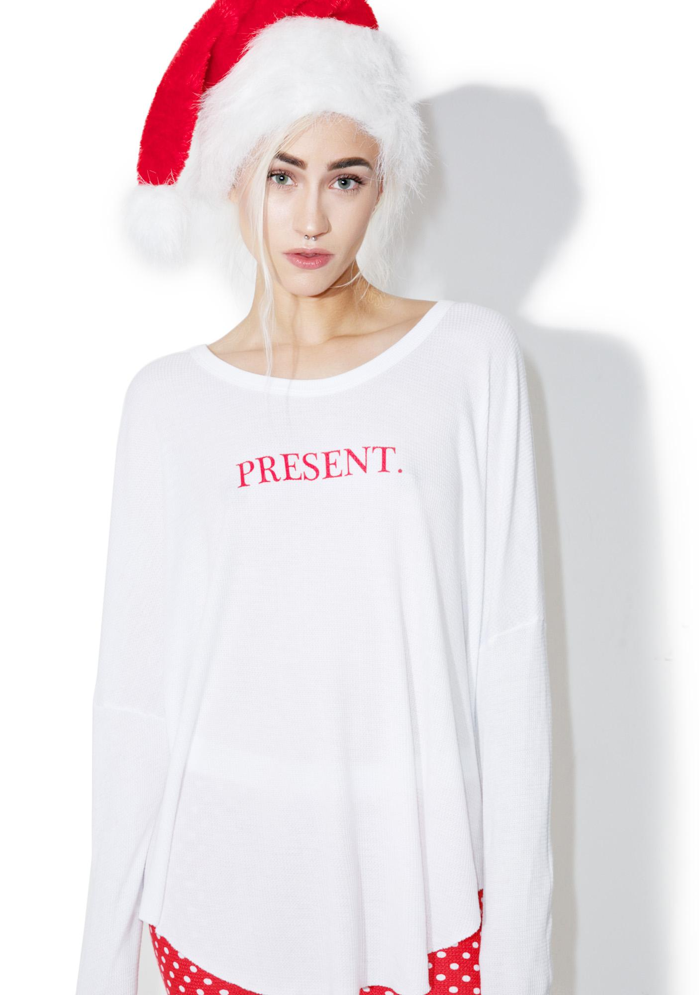 Wildfox Couture Unwrap Me Perry Thermal