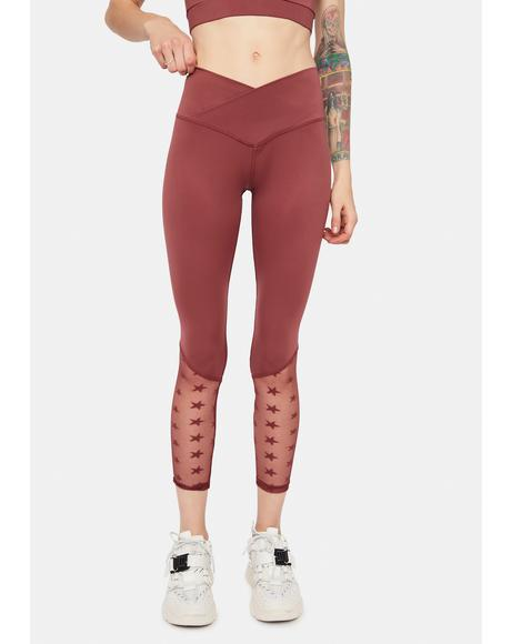 Mauve Star Playa Sporty Leggings