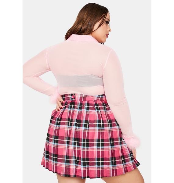 Black Friday Plus Never Too Late Mini Skirt