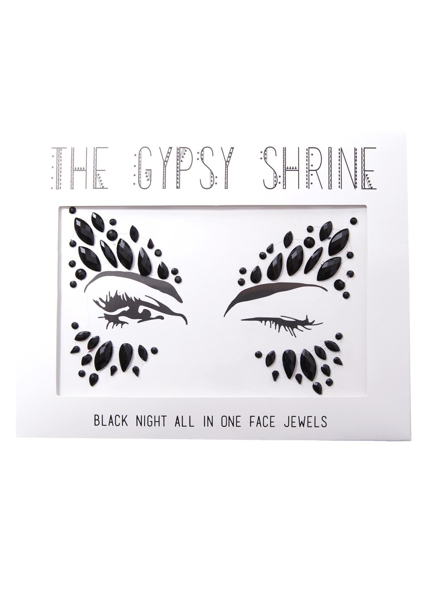 The Gypsy Shrine Black Swan Face Jewels