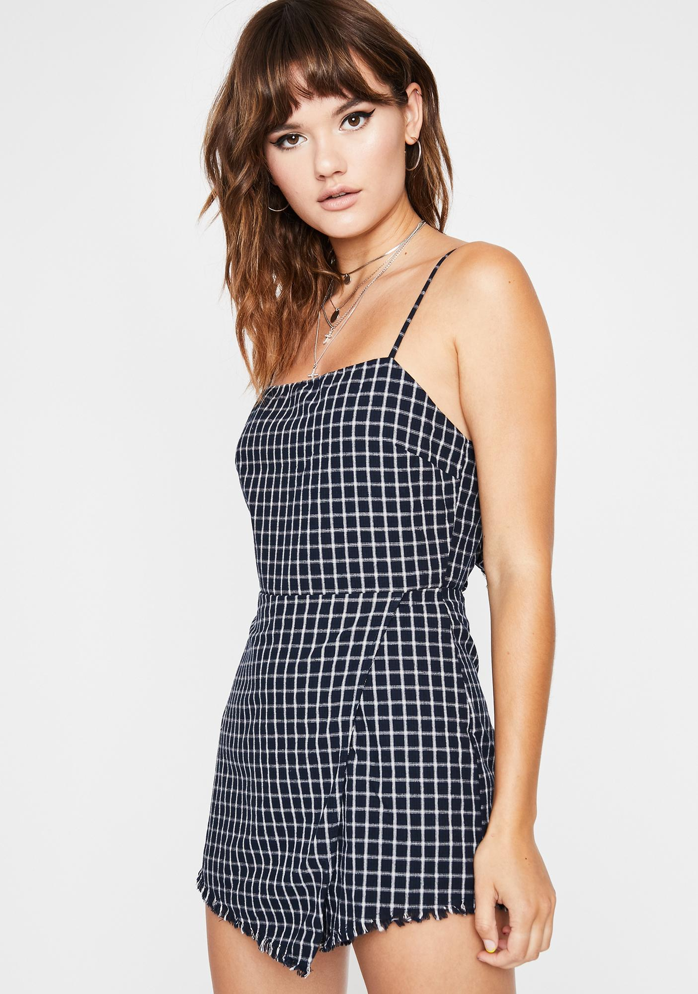 Adorable Trouble Gingham Romper