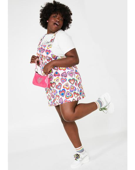 Always Love Out Loud Overall Dress